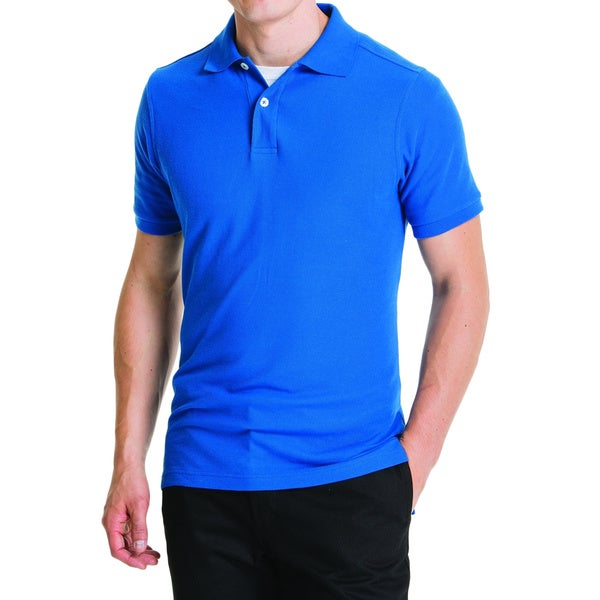 Lee Young Men 39 S Royal Blue Short Sleeve Pique Polo Shirt