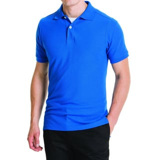 Lee Young Men's Royal Blue Short-sleeve Pique Polo Shirt