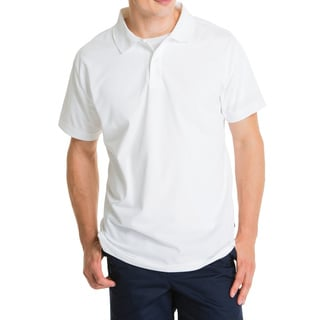 Lee Young Men's White Short Sleeve Sport Polo