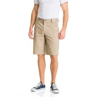 Lee Young Men's Khaki Classic Flat Front Short