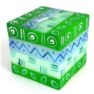 Hand-Painted Cube Candle - Farih Design - Nobunto Candles (South Africa)