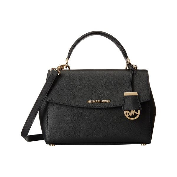 Michael Kors Ava Small Top Handle Black Satchel Handbag