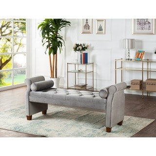Jennifer Taylor Jocelyn Roll Arm Lounge Entryway Bench
