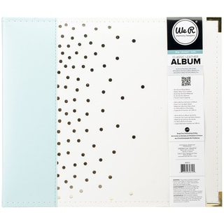 We R Designer D Ring Album 12inX12in Mint W/Gold Foil Dots