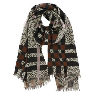 LA77 Leopard Plaid Scarf