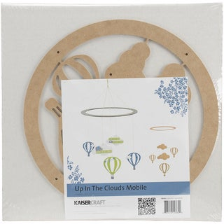 Beyond The Page MDF Up In The Clouds Mobile 11in Round Ring W/Pieces Up To 4.25in