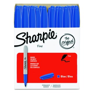 Sharpie Blue Permanent Marker (Pack of 36)