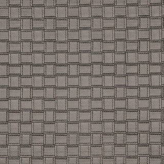 G660 Silver Metallic Basket Woven Look Upholstery Faux Leather