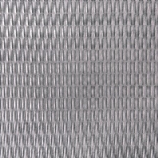 G667 Silver Metallic Rectangles Upholstery Faux Leather