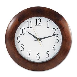 Universal One Cherry Round Wood Clock