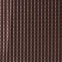 G680 Copper Metallic Plush Squares Upholstery Faux Leather