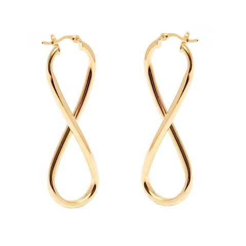 Goldplated Infinity Hoop Earrings