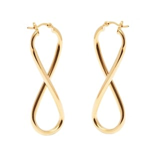 Peermont Jewelry 18k Goldplated Infinity Hoop Earrings
