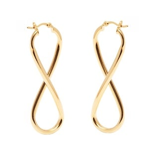 Goldplated Infinity Hoop Earrings