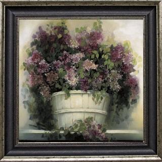 Andrea Dern-Lilac Gathering 34 x 34 Framed Art Print