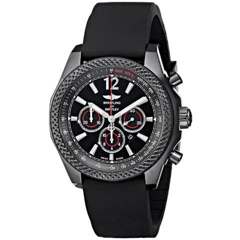 Breitling Men's M4139024-BB85 'Barnato 42' Automatic Chronograph Black Rubber Watch