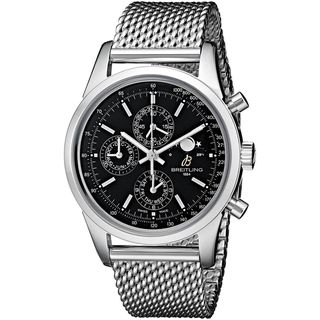 Link to Breitling Men's A1931012-BB68 'Transocean 1461' Automatic Chronograph Silver Stainless steel Watch Similar Items in Men's Watches