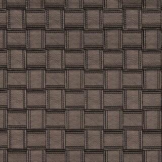 G698 Bronze Metallic Basket Woven Look Upholstery Faux Leather