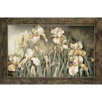 Linda Thompson-Field Of Irises 36 x 24 Framed Art Print