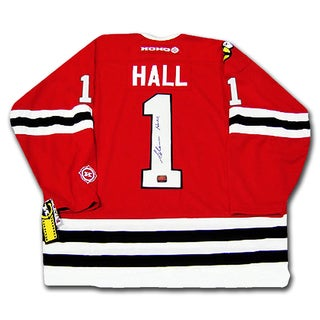 Glenn Hall Autographed Red Chicago Blackhawks Jersey