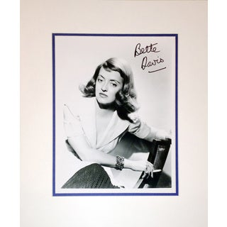 Framed 8x10 Photograph Autographed by Bette Davis