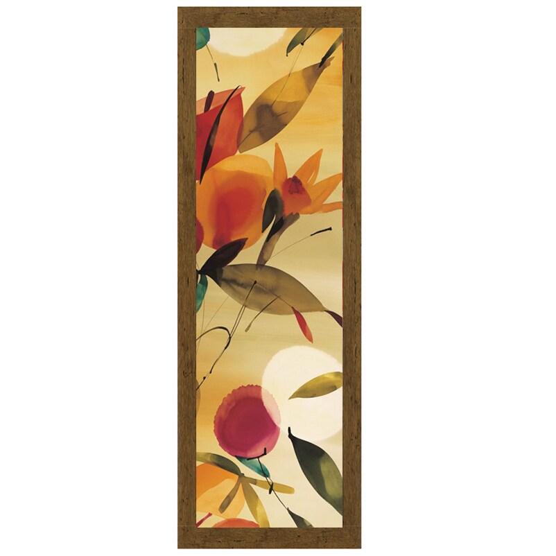 Lola Abellan-Fiesta Primaveral I, 16 x 40 Framed Art Prin...