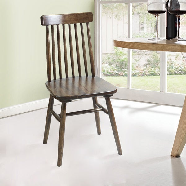 Shop Adeco Elm Wood Vintage Style Dining Chair With