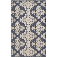 "Safavieh Cottage Navy/ Cream Rug - 3'3"" x 5'3"""