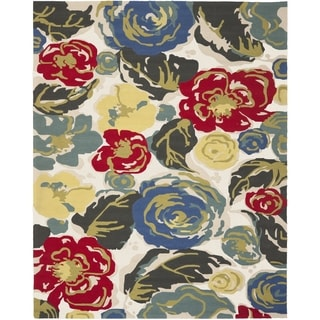 Safavieh Hand-Hooked Four Seasons Ivory / Multicolored Polyester Rug (4' x 6')