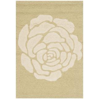 Safavieh Handmade Cambridge Light Gold/ Ivory Wool Rug (2' x 3')