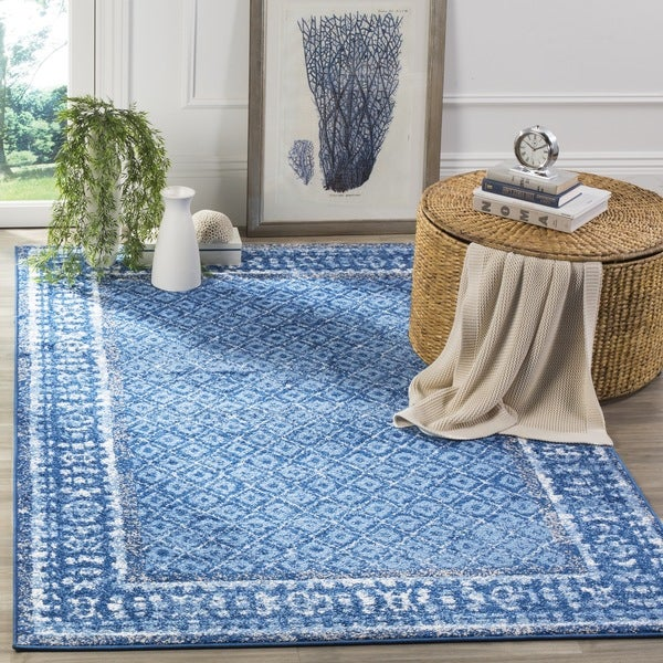 Safavieh Adirondack Vintage Light Blue/ Dark Blue Rug (8' x 10')