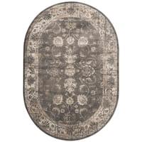 Safavieh Vintage Oriental Soft Anthracite Distressed Silky Viscose Rug - 5' oval