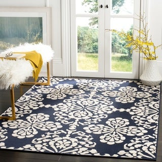 Safavieh Cottage Navy/ Cream Rug (3'3 x 5'3)