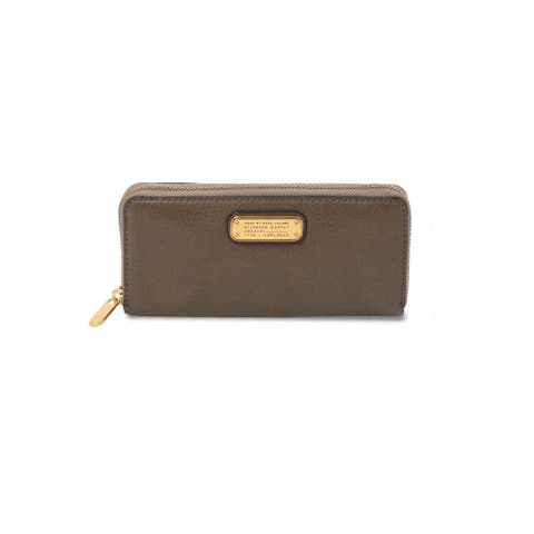 Marc by Marc Jacobs Women's New Q Slim Zip Around Wallet Puma Taupe