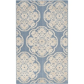 Safavieh Cottage Light Blue/ Beige Rug (3'3 x 5'3)