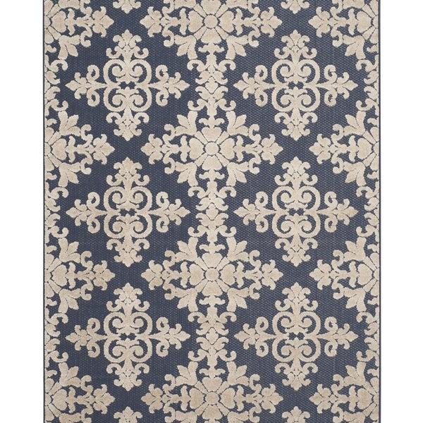 Safavieh Cottage Navy/ Cream Rug (5'3 x 7'7)