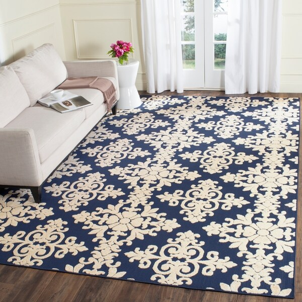 Safavieh Cottage Navy/ Cream Rug - 5'3 x 7'7