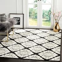 "Safavieh Cottage Anthracite/ Cream Rug - 5'3"" x 7'7"""