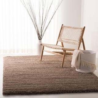 Safavieh California Cozy Solid Taupe Shag Rug (4' Square)