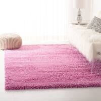 Safavieh California Cozy Plush Pink Shag Rug (4' Square)
