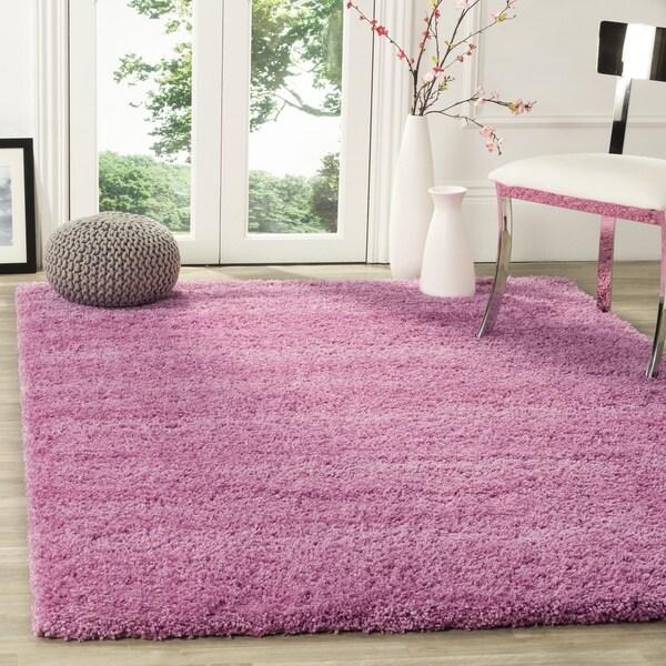 Safavieh California Cozy Plush Pink Shag Rug (4' Square)