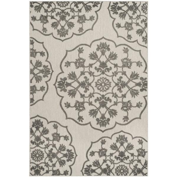 Safavieh Cottage Cream/ Grey Rug (5'3 x 7'7)
