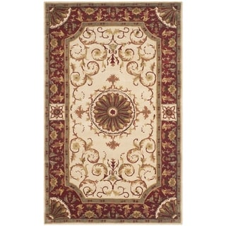 Safavieh Handmade Empire Dani Traditional Oriental Wool Rug (5 x 8 - Ivory/Red)