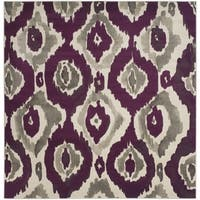 Safavieh Porcello Abstract Ogee Ivory/ Purple Rug - 6'7 Square