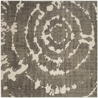 Safavieh Porcello Abstract Contemporary Grey/ Ivory Rug (6'7 Square)