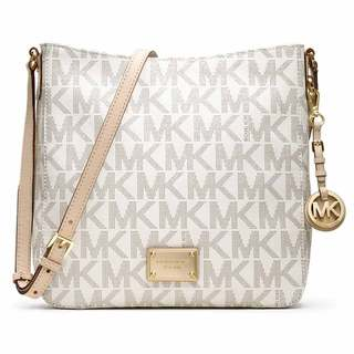 Michael Kors Jet Set Signature Vanilla Large Crossbody Handbag