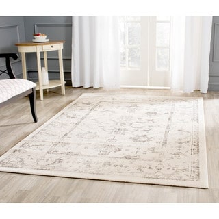 Safavieh Porcello Oriental Distressed Ivory/ Light Grey Rug (6'7 Square)