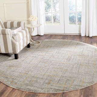 Safavieh Porcello Modern Abstract Grey/ Dark Grey Rug (6'7 Round)