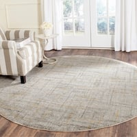 Safavieh Porcello Modern Abstract Grey/ Gold Rug - 6'7 Round