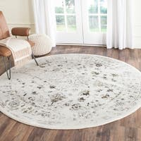 Safavieh Porcello Distressed Ivory/ Light Grey Rug - 6'7 Round
